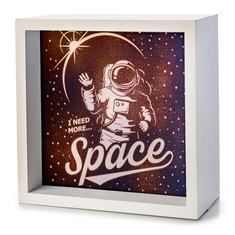 I Need More Space Astronaut Light Box,LBX-W-23930