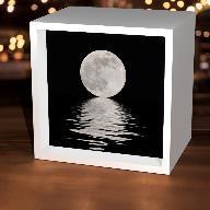 Black & White Moon Light Box,LBX-W-23972