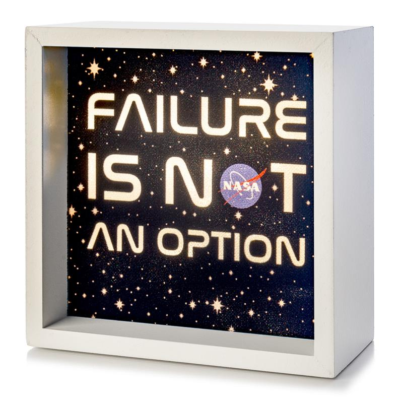 Failure Is Not an Option - NASA Light Box,NASA,LBX-W-26066