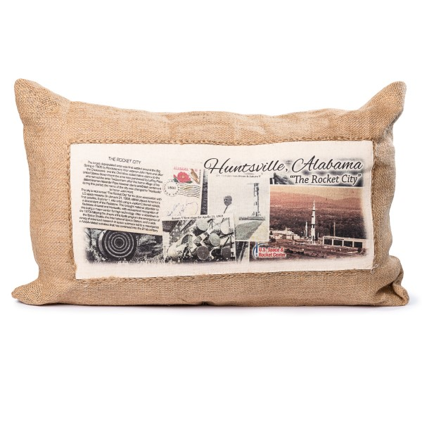 Rectangle Jute Pillow,ROCKET CITY USA,HCUSH-0260