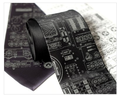 Apollo Cockpit Silk Necktie
