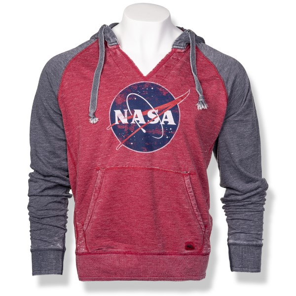 NASA Meatball Burnout Raglan Hoodie,NASA,S12719/R653A