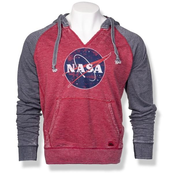 NASA Meatball Burnout Raglan Hoodie,NASA,S12719/R653A