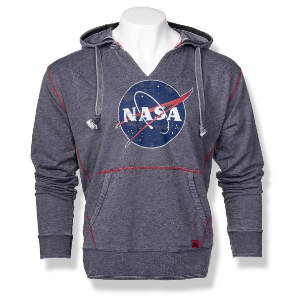 NASA Meatball Burnout Slub Hoodie P51,NASA,S12719/R655A