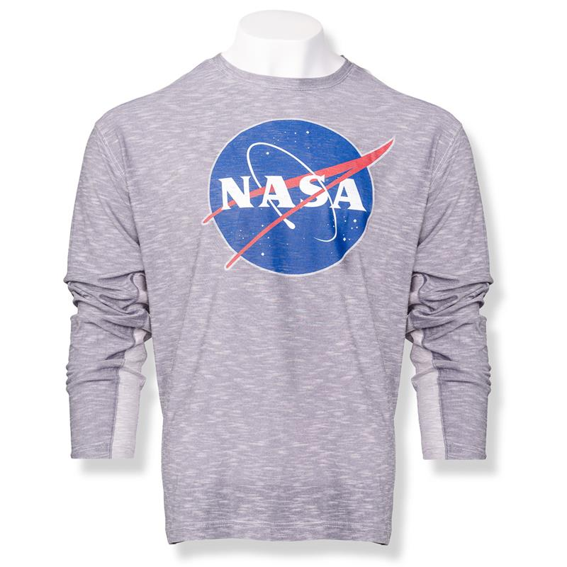 NASA Meatball Men's Two-Tone LS Tee,NASA,S13225/354A