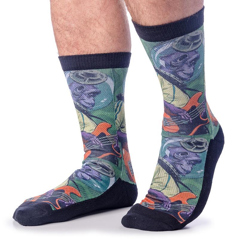 Rockin Space Chimp Socks,4141