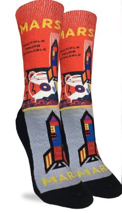 Women's Mars or Bust Socks,5032
