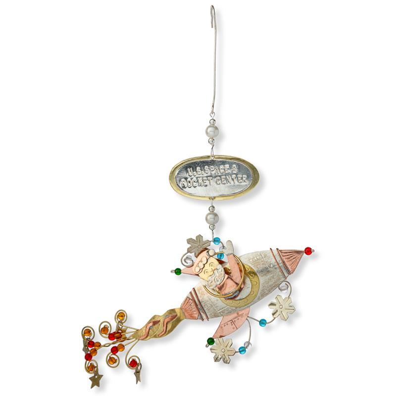 Santa's Space Rocket Ornament,963-2155