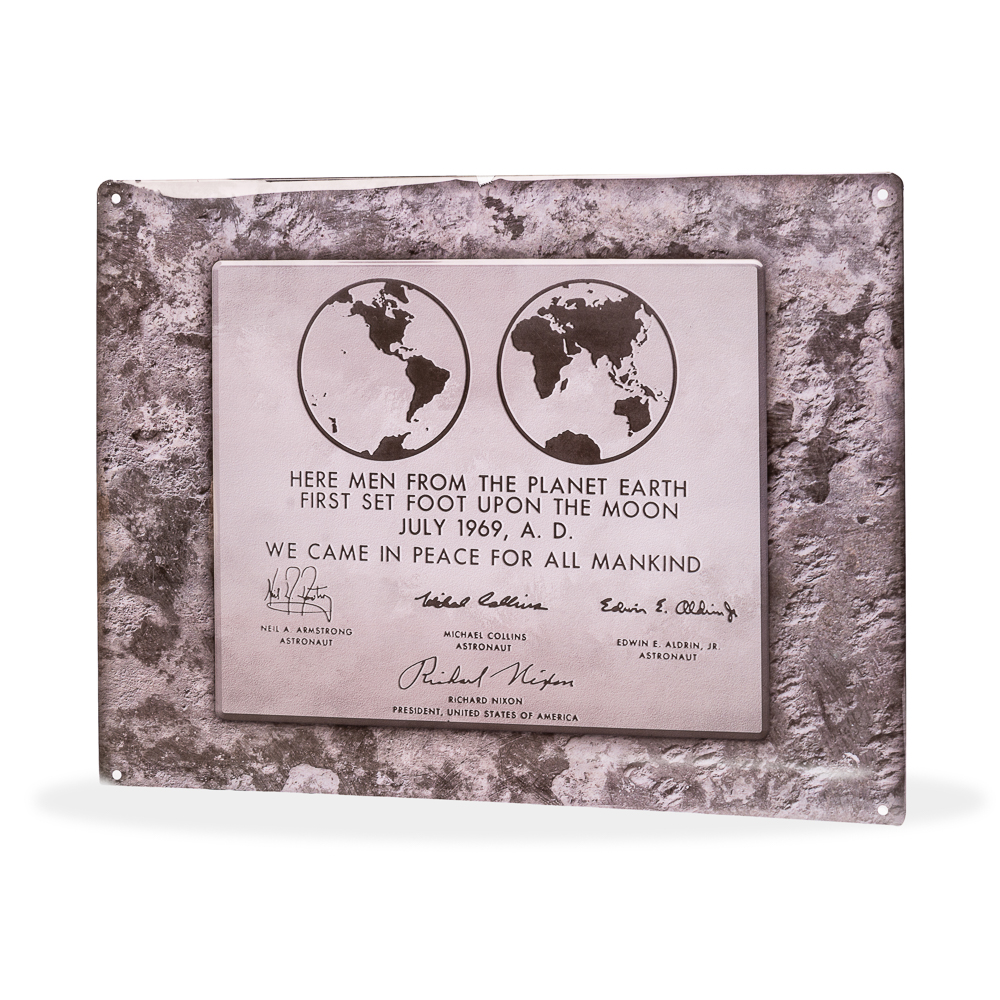Lunar Plaque Sign,50TH ANNIVERSARY,25/0057 IMP
