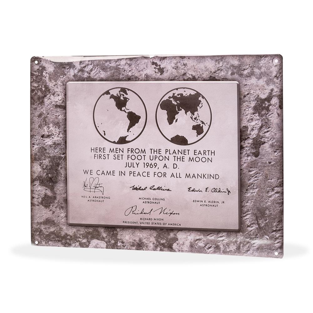 Lunar Plaque Sign,50TH ANNIVERSARY,25/0057 IMP