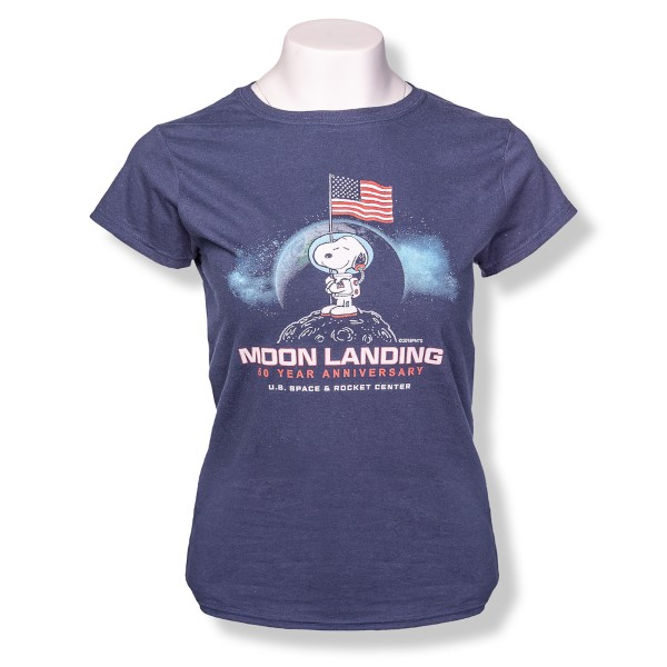 Moon Landing Peanuts Ladies T-Shirt,50TH ANNIVERSARY,G64000L
