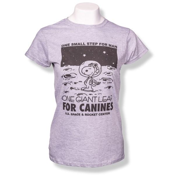 Canine Leap Peanuts Ladies T-Shirt,PEANUTS,G64000L