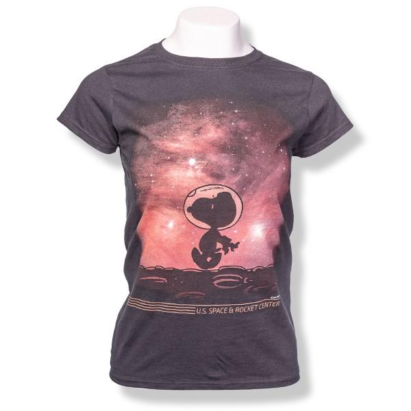 Moon Walker Peanuts Ladies T-Shirt,PEANUTS,G5000