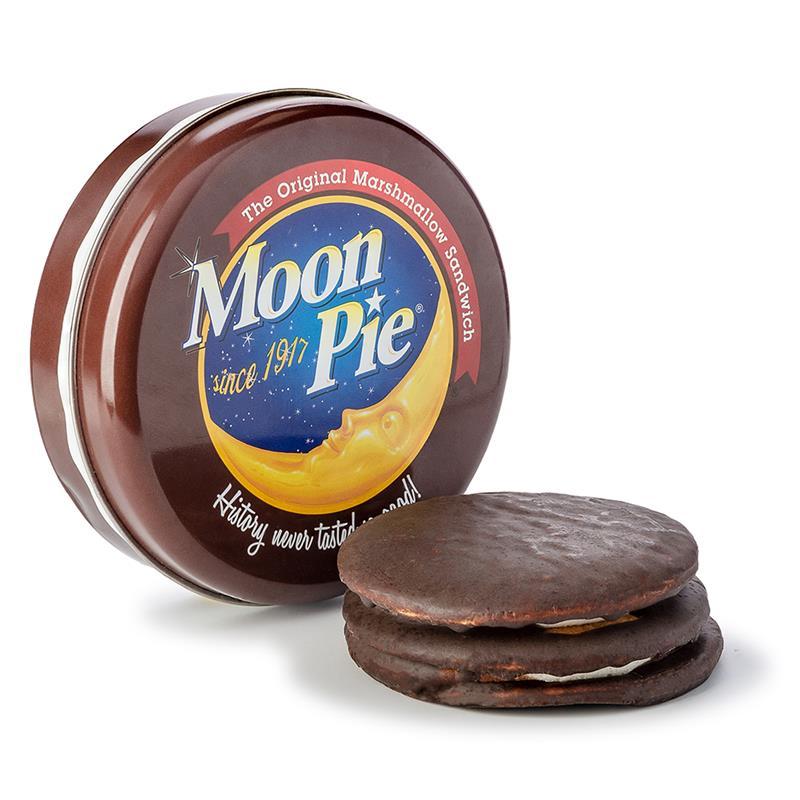 Round Tin with Double Decker Moon Pie