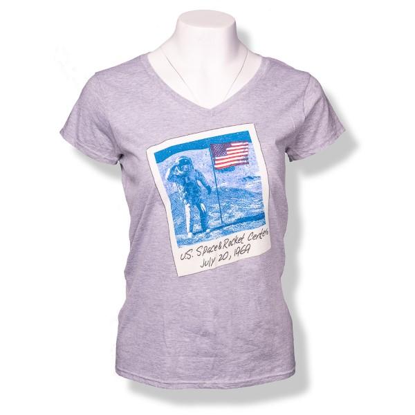 Astronaut Polaroid V-Neck T-Shirt,50TH ANNIVERSARY,S137742-64V00L