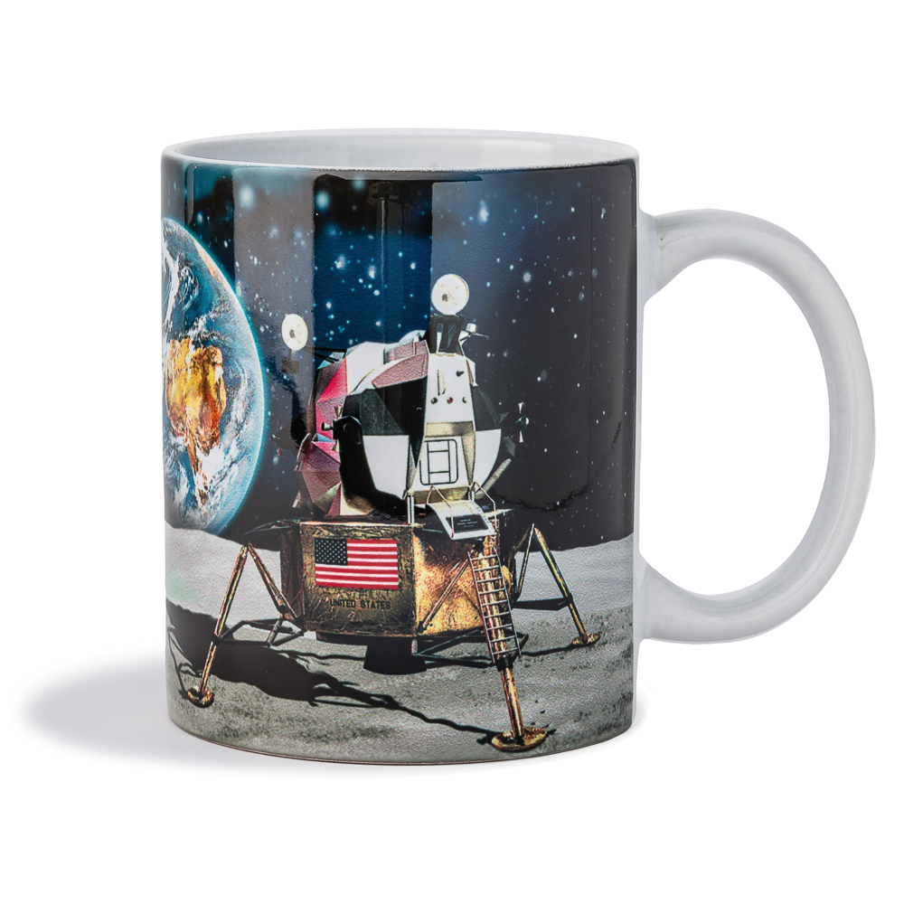 Lunar Scene 11oz White Mug,50TH ANNIVERSARY,01/7150 DOM