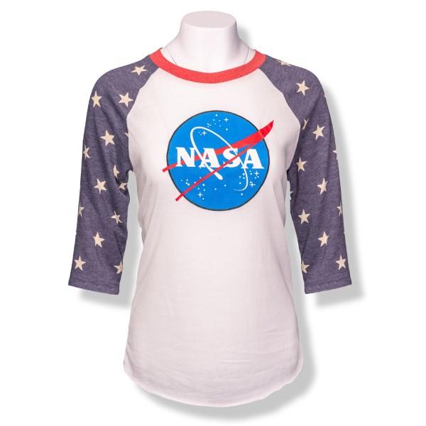 NASA Star 3/4 Sleeve T-Shirt,NASA,2089EA