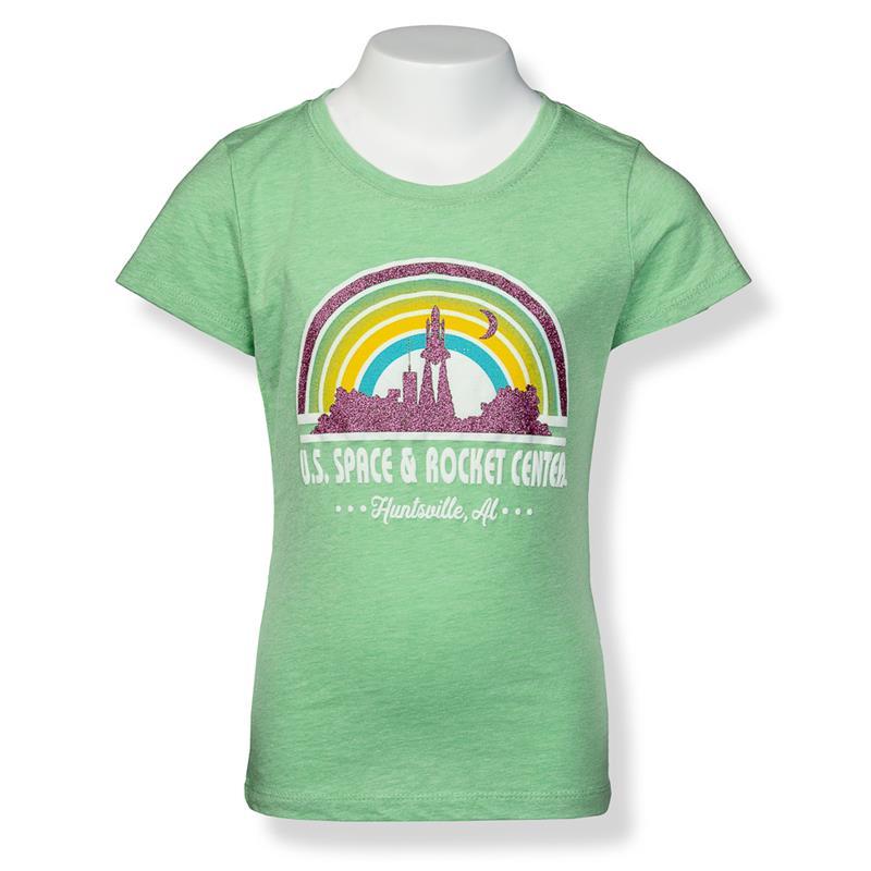 Rainbow Dream Shuttle Girls Cap Sleeve T-Shirt,S16811-K/506C