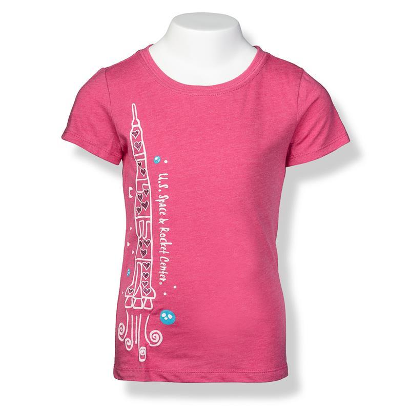 Heart Rocket Girls Cap Sleeve T-Shirt,S16801-K/506C