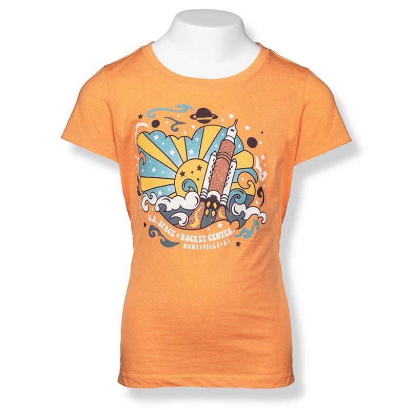 Color Max Rocket Girls Cap Sleeve T-Shirt,S16771-K/506C