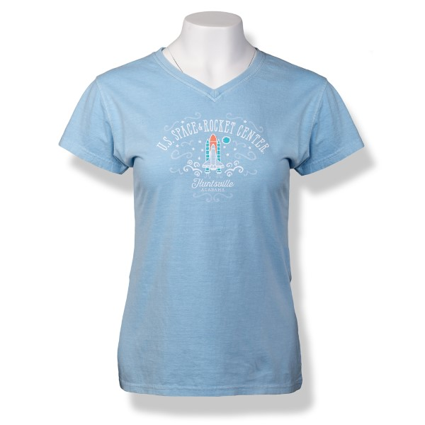 Cheery Shuttle Ladies V-Neck T-Shirt,S16772/203A
