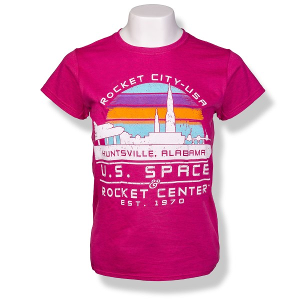 Rocket City Sunset Ladies T-Shirt,ROCKET CITY USA,S131846/131846/64000