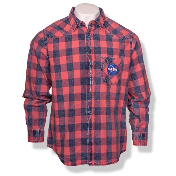 NASA Vector Plaid Button-Down Shirt,NASA,S131872/85060