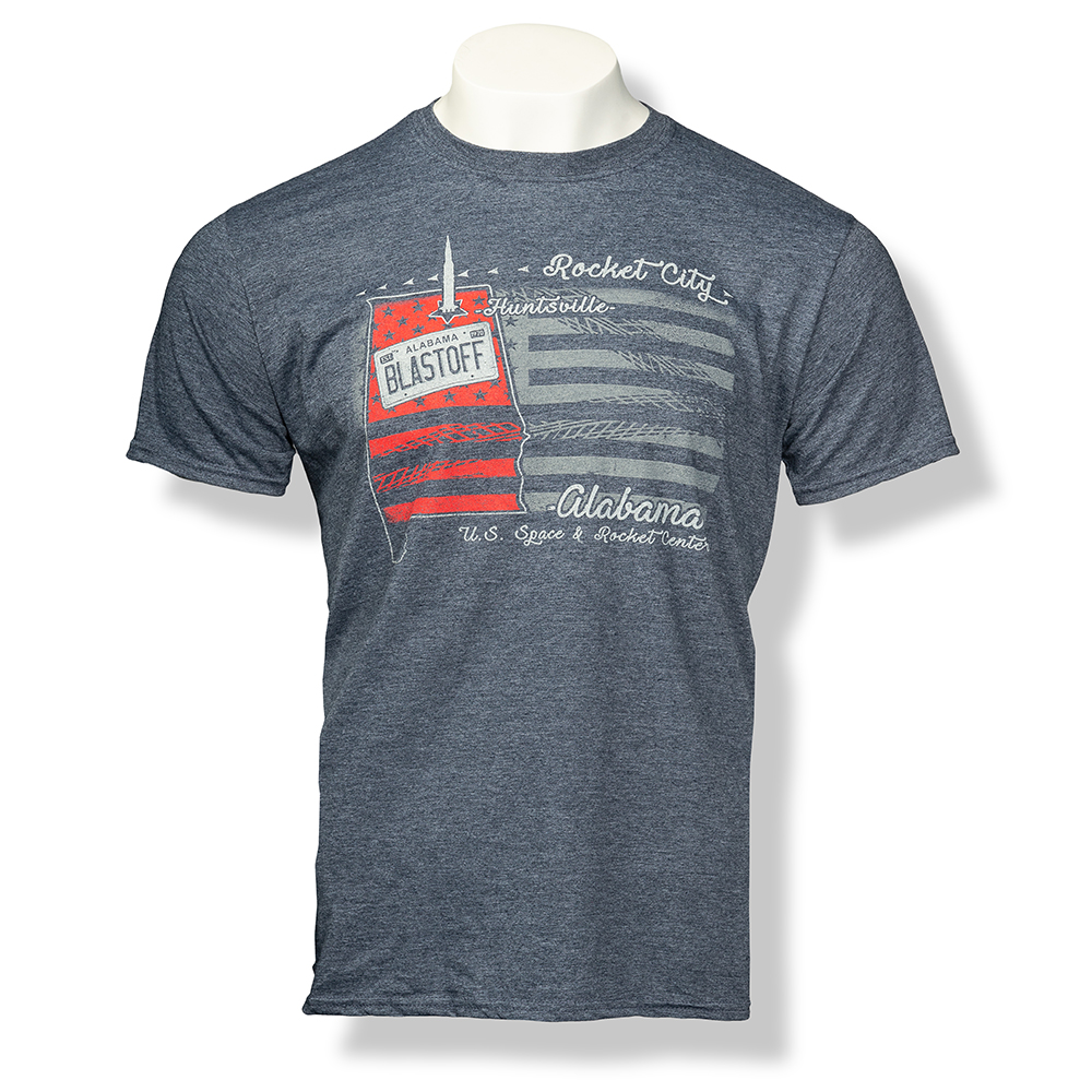 U.S. Track Trip Euro-Fit T-Shirt,ROCKET CITY USA,S131761/X40033/64000
