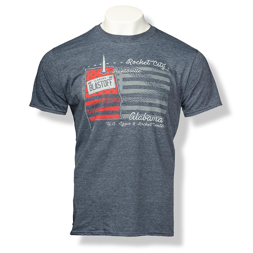 U.S. Track Trip Euro-Fit T-Shirt,ROCKET CITY USA,S131761/X40033/64000