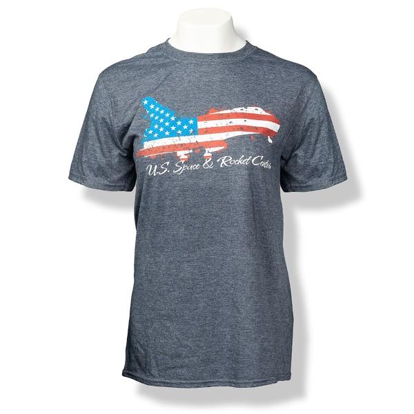 Patriotic Shuttle Euro-Fit Men's T-Shirt,S132056/7433/64000
