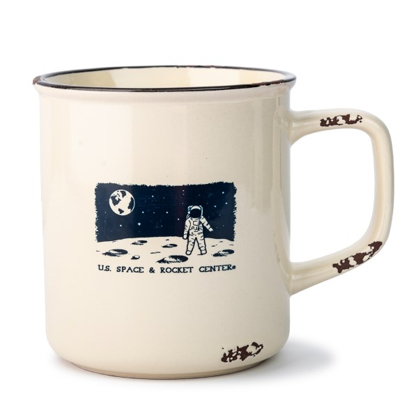 Night Scape Astronaut Distressed Camp Mug,S131839/7368/MS260