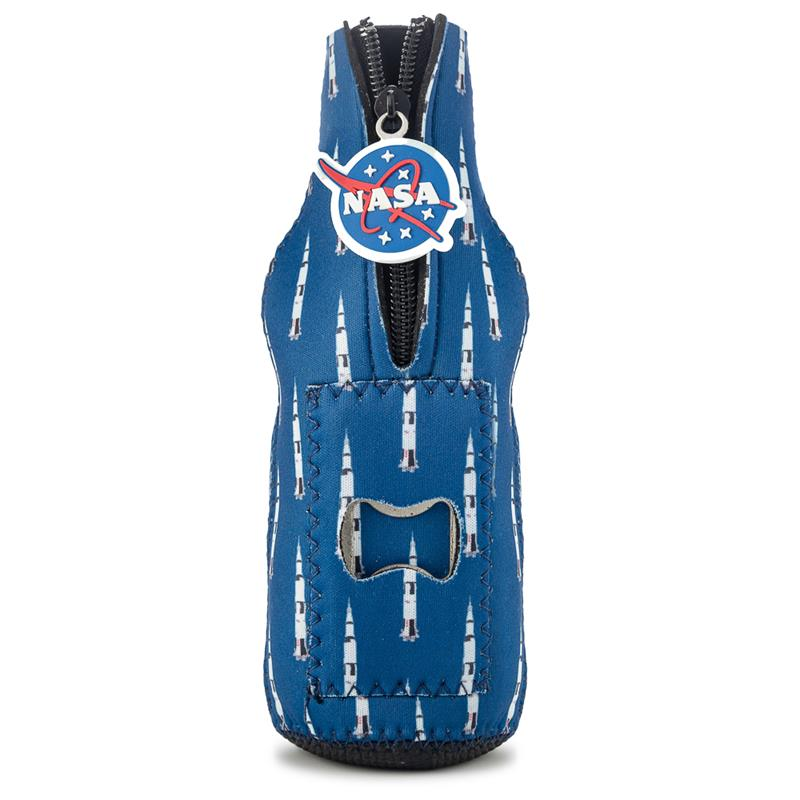 Sat V Bottle Holder/Opener Party Popper,NASA,PPOP-CUS