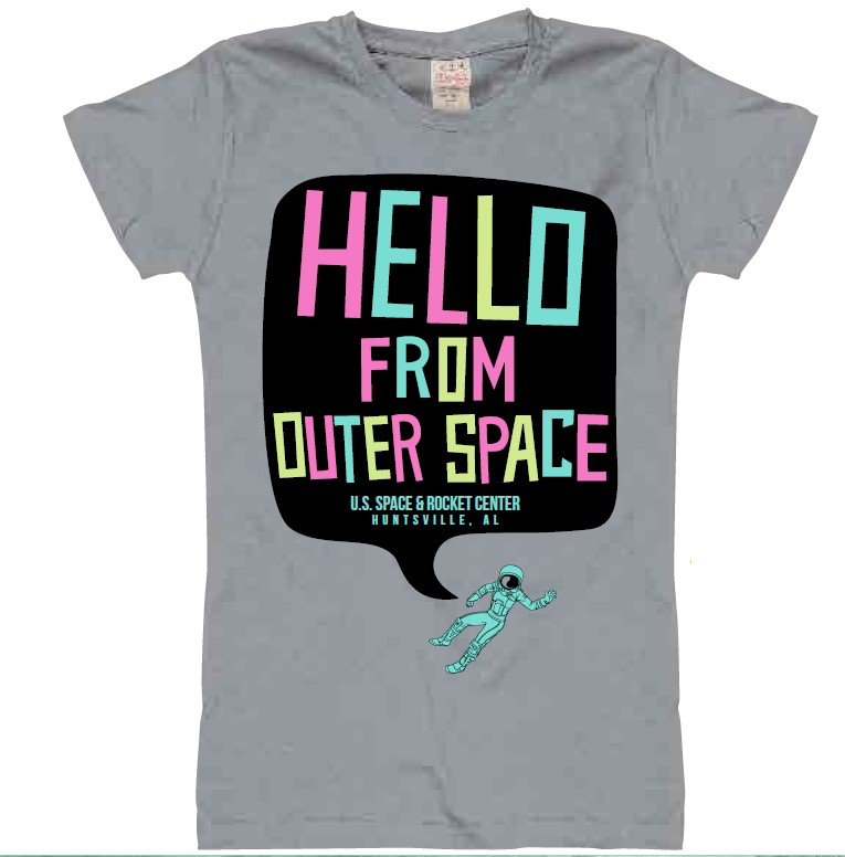 Hello from Outer Space T-Shirt,ROCKET CENTER,9498