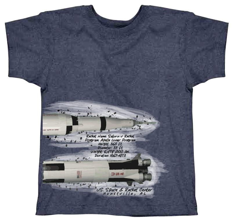 Saturn V Tech T-Shirt,7905