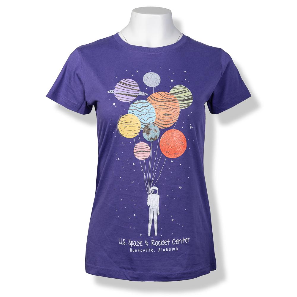 Planet Balloons Ladies Fashion T-Shirt,8106
