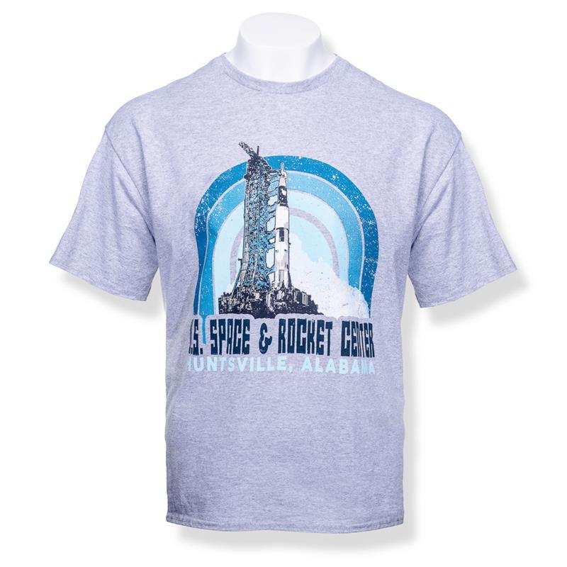 Retro Arch Saturn V T-Shirt,8822
