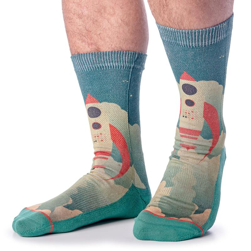 Rocket Ship Socks,4121
