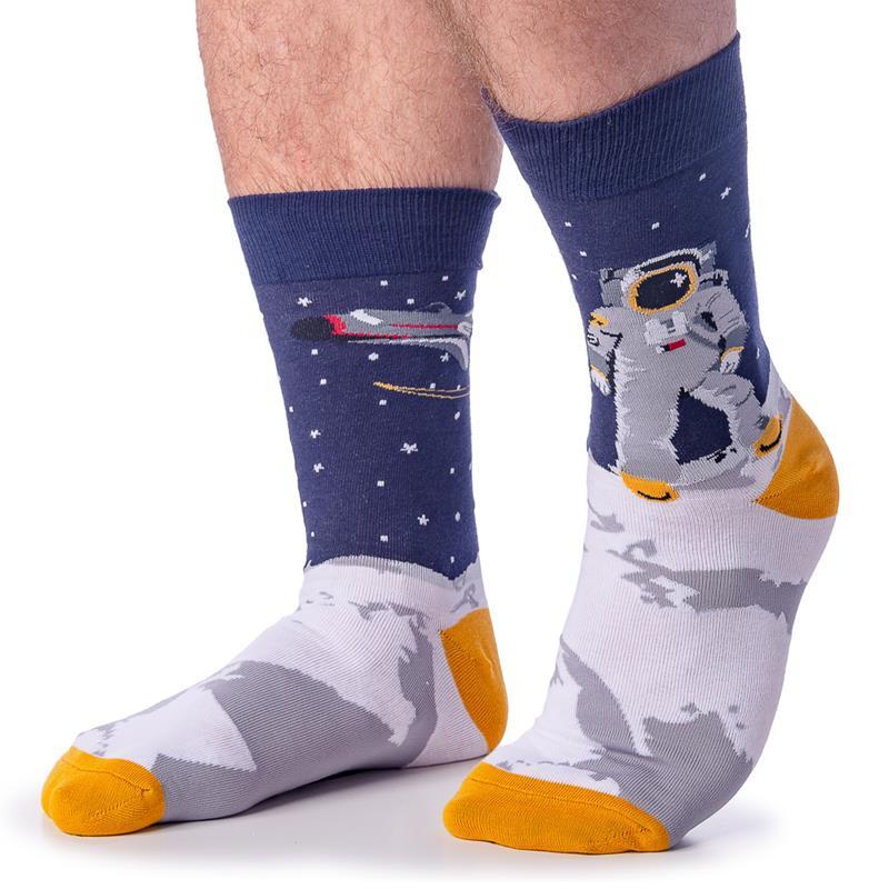 One Giant Leap Socks - Men's Crew,MEF 0114