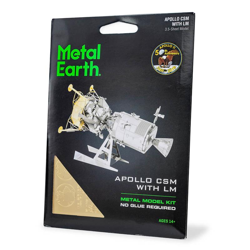 Apollo Command/Service Module with Lunar Module Metal Model,MMS168