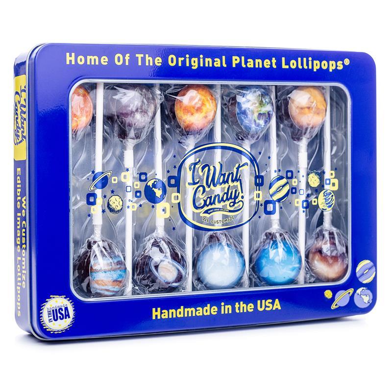 10pc Planet Lollipop Set