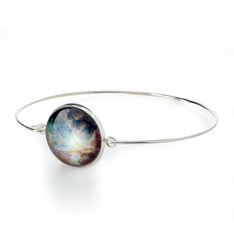 Delicate Galaxy Cuff Bracelet - Silver,GCB