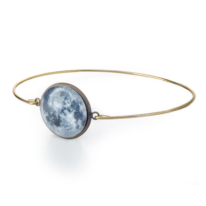 Delicate Galaxy Cuff Bracelet - Bronze,GCB