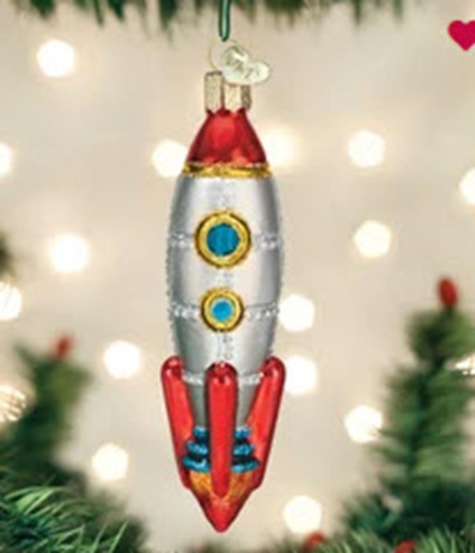 Toy Rocket Ornament,44125