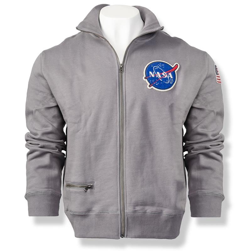 NASA Rocket Scientist Full Zip,NASA,'M-SWZ-ROCKSCI-GY-LG