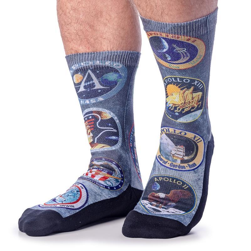 Mens Apollo Mission Patches Socks,4199