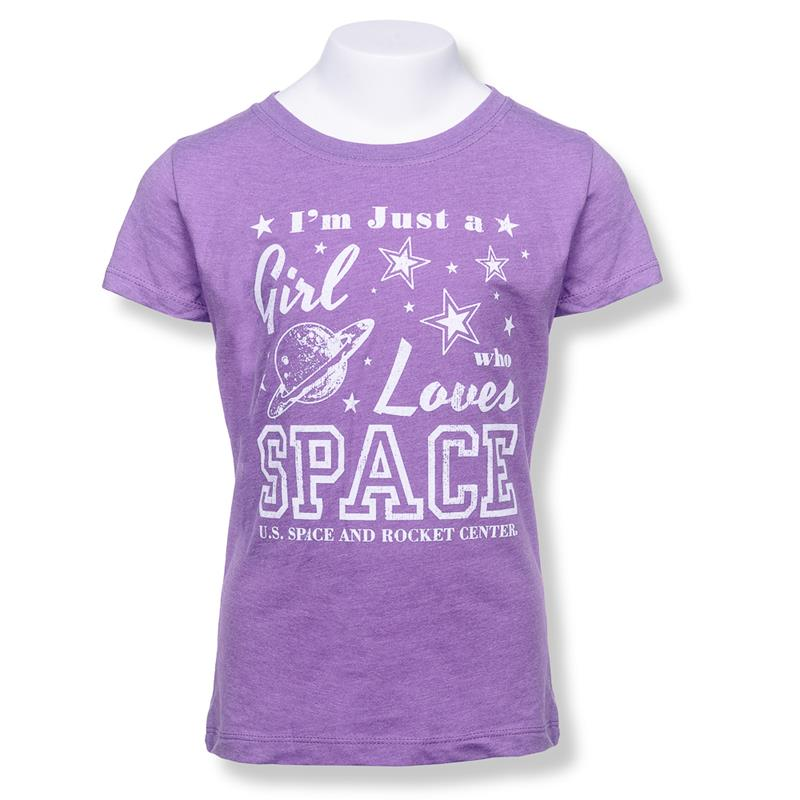 Girls Love Space Youth T-shirt,23579/Y052PUR