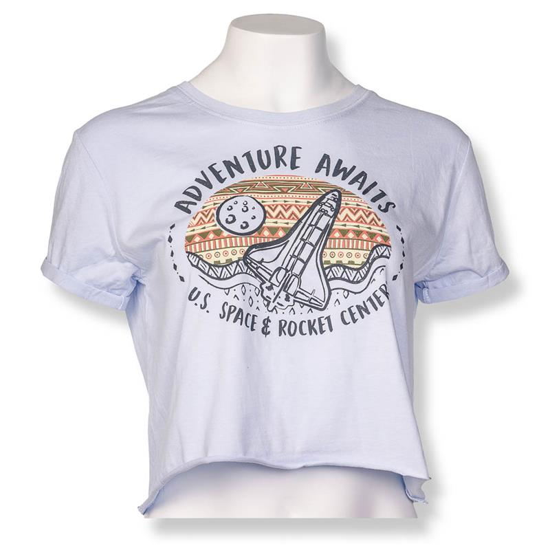 Adventure Awaits Crop T-shirt,ROCKET CENTER,21402/A030ICE