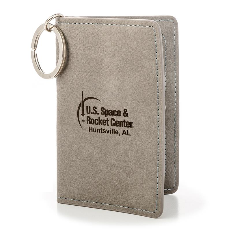 Rocket Center Leather Keychain Wallet,ROCKET CENTER,DS26594-C1/KEY134