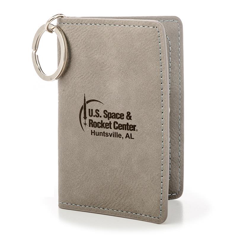 Rocket Center Leather Keychain Wallet,ROCKET CENTER,DS26594-C1/KEY134