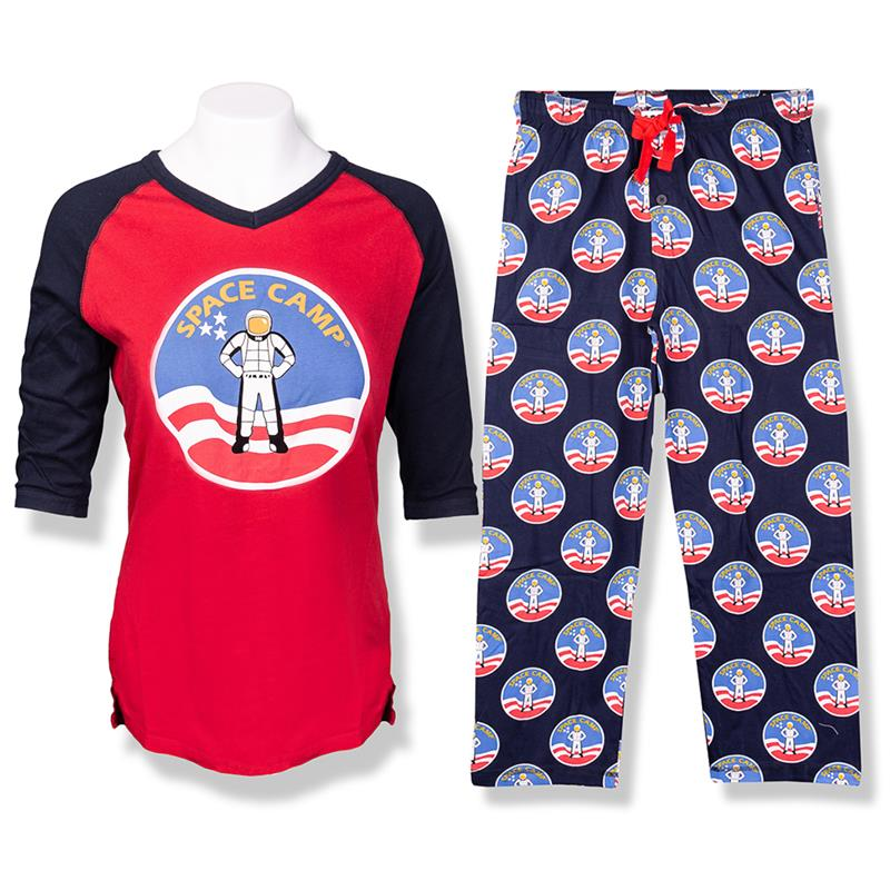 Space Camp 3/4 Sleeve Slim Fit Pajama Set,SPACECAMP